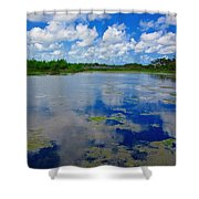 Blue And Green Cay Shower Curtain
