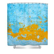 Blue And Orange Wall Texture Shower Curtain