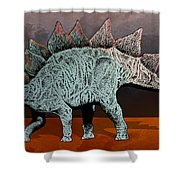 Blue And Rose Stegasarus Home On The Range  Shower Curtain