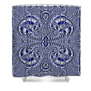 Blue And Silver 3 Shower Curtain