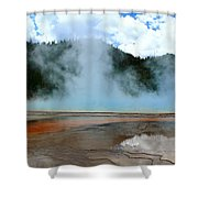 Blue And Steamy Shower Curtain