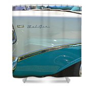 Blue And White Bel Air Convertable Shower Curtain