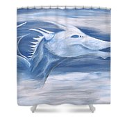 Blue And White Dragon Shower Curtain