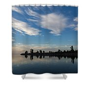 Brushstrokes On The Sky - Blue And White Serenity Shower Curtain