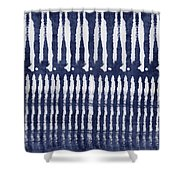 Blue And White Shibori Design Shower Curtain