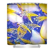 Blue And Yellow Autumn Shower Curtain