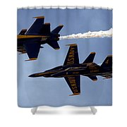 Blue Angel Demonstration Shower Curtain