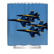 Blue Angel Diamond Shower Curtain