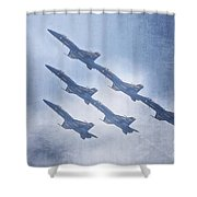 Blue Angels Fa 18 V18 Shower Curtain
