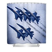Blue Angels Fa 18 V19 Shower Curtain