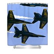 Blue Angels II Shower Curtain