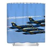 Blue Angels IIII Shower Curtain