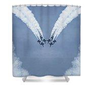 Blue Angels Love Shower Curtain