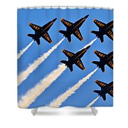 Blue Angels Overhead Shower Curtain