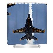 Blue Angels Overhead Break  Shower Curtain
