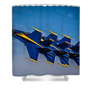 Blue Angels Single File Shower Curtain