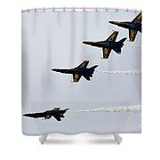 Blue Angels Tuck Under Break Shower Curtain