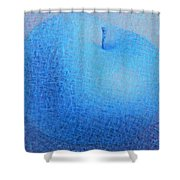 Blue Apple Shower Curtain