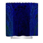 Blue Archways Shower Curtain