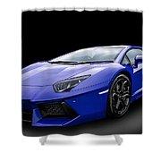 Blue Aventador Shower Curtain