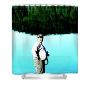 Blue Avery Shower Curtain
