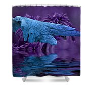 Blue Baptism Shower Curtain