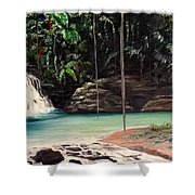 Blue Basin Shower Curtain