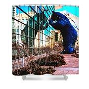 Blue Bear Convention Center 5214 Shower Curtain