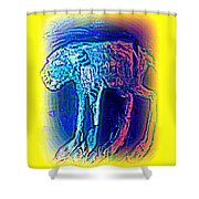 The Blue Beast Inside Of Me Is Waiting For You  Shower Curtain