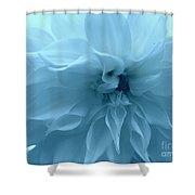 Blue Beauty - Dahlia Shower Curtain