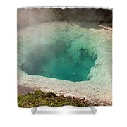 Blue Bell Pool In West Thumb Geyser Basin In Yellowstone National Park Shower Curtain