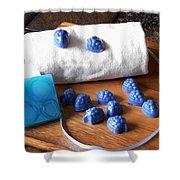 Blue Berries Mini Soaps Shower Curtain