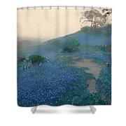 Blue Bonnet Field In San Antonio Shower Curtain