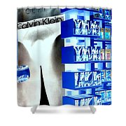 Blue Briefs Shower Curtain