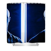 Blue Brothers Shower Curtain