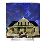 Blue Bucket Shower Curtain