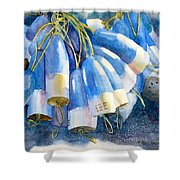 Blue Bundle Shower Curtain