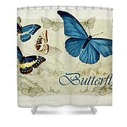 Blue Butterfly - S01a Shower Curtain