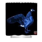 Blue Canada Goose Pop Art - 7585 - Bb  Shower Curtain