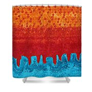 Blue Canyon Original Painting Shower Curtain