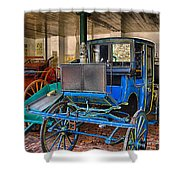 Blue Carriage Shower Curtain