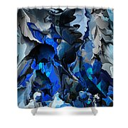 Blue Chaos Shower Curtain