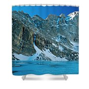 Blue Chasm Shower Curtain by Eric Glaser