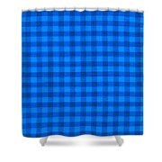 Blue Checkered Tablecloth Fabric Background Shower Curtain