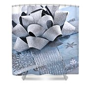 Blue Christmas Gift Shower Curtain by Elena Elisseeva