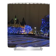 Blue Christmas.. Shower Curtain