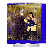Blue Christmas Without Elvis Shower Curtain