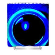 Blue Circle Shower Curtain
