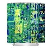 Blue City Shower Curtain