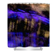 Blue Cliff Shower Curtain